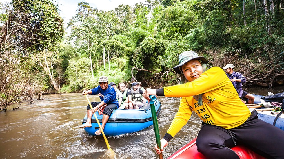 Rafting in the jungle in Northern Thailand