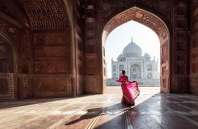 Agra og Taj Mahal er et selvskrevent stopp i India