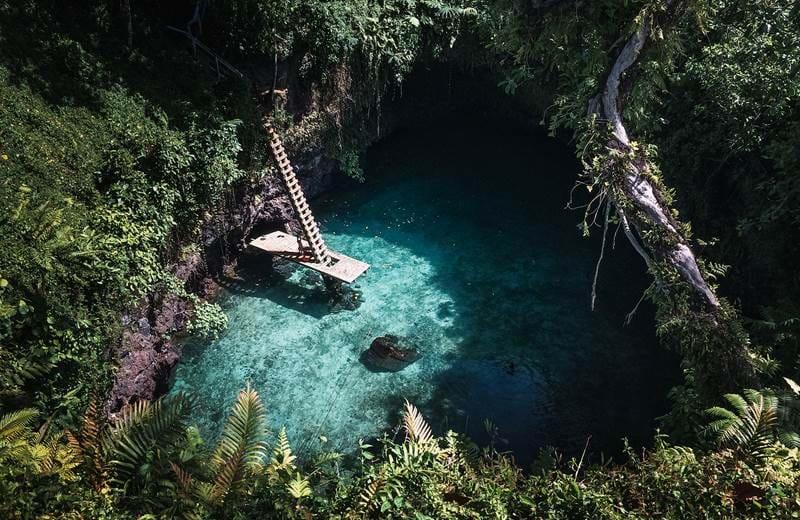 To Sua Ocean Trench på Samoa har blitt en Instagramfavoritt