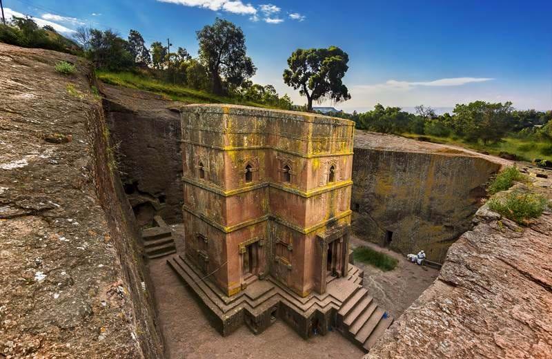 De fantastiske steinkirkene i Lalibela, Etiopia
