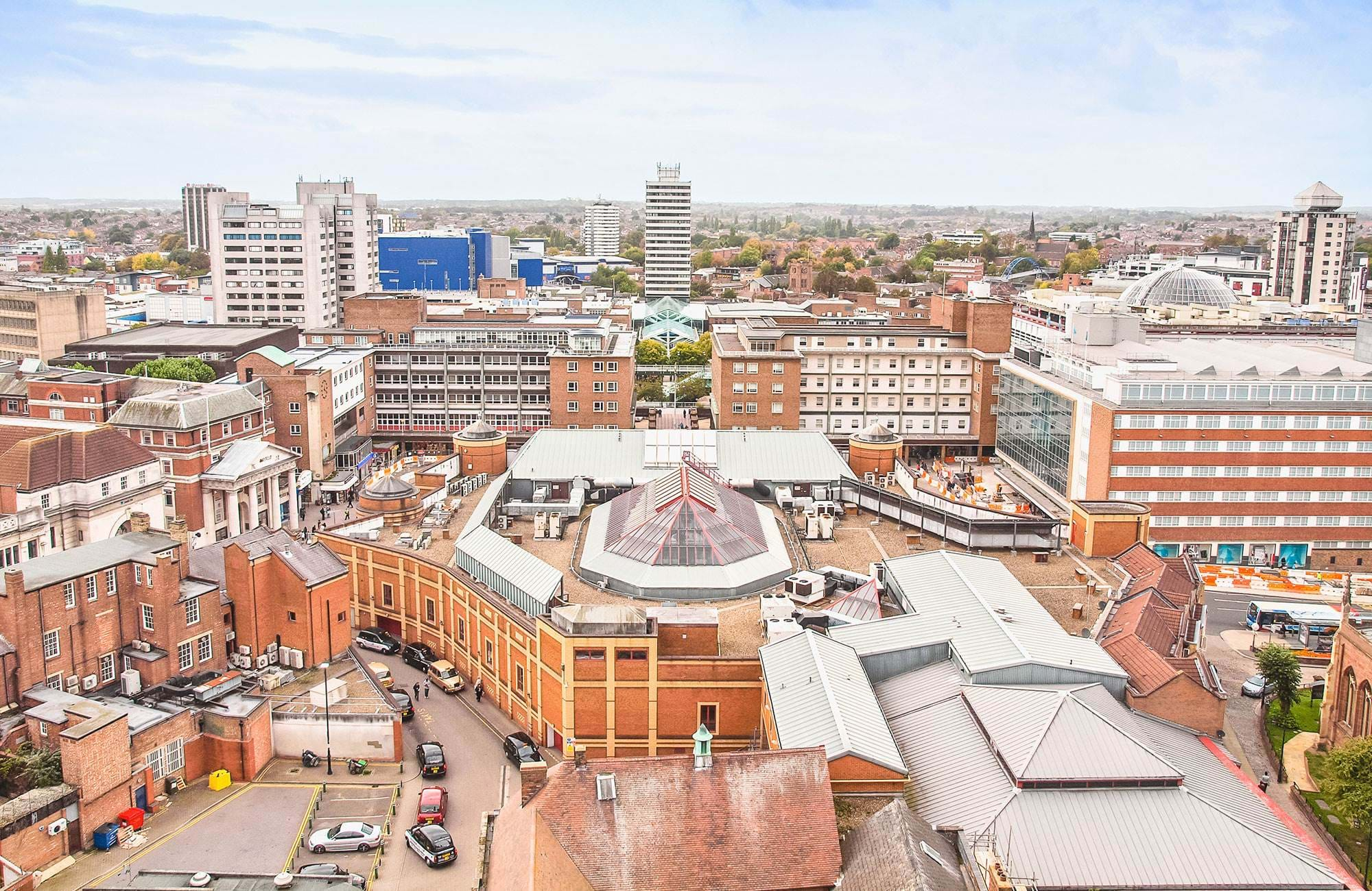 Panoramic-view-of-coventry,-England-UK