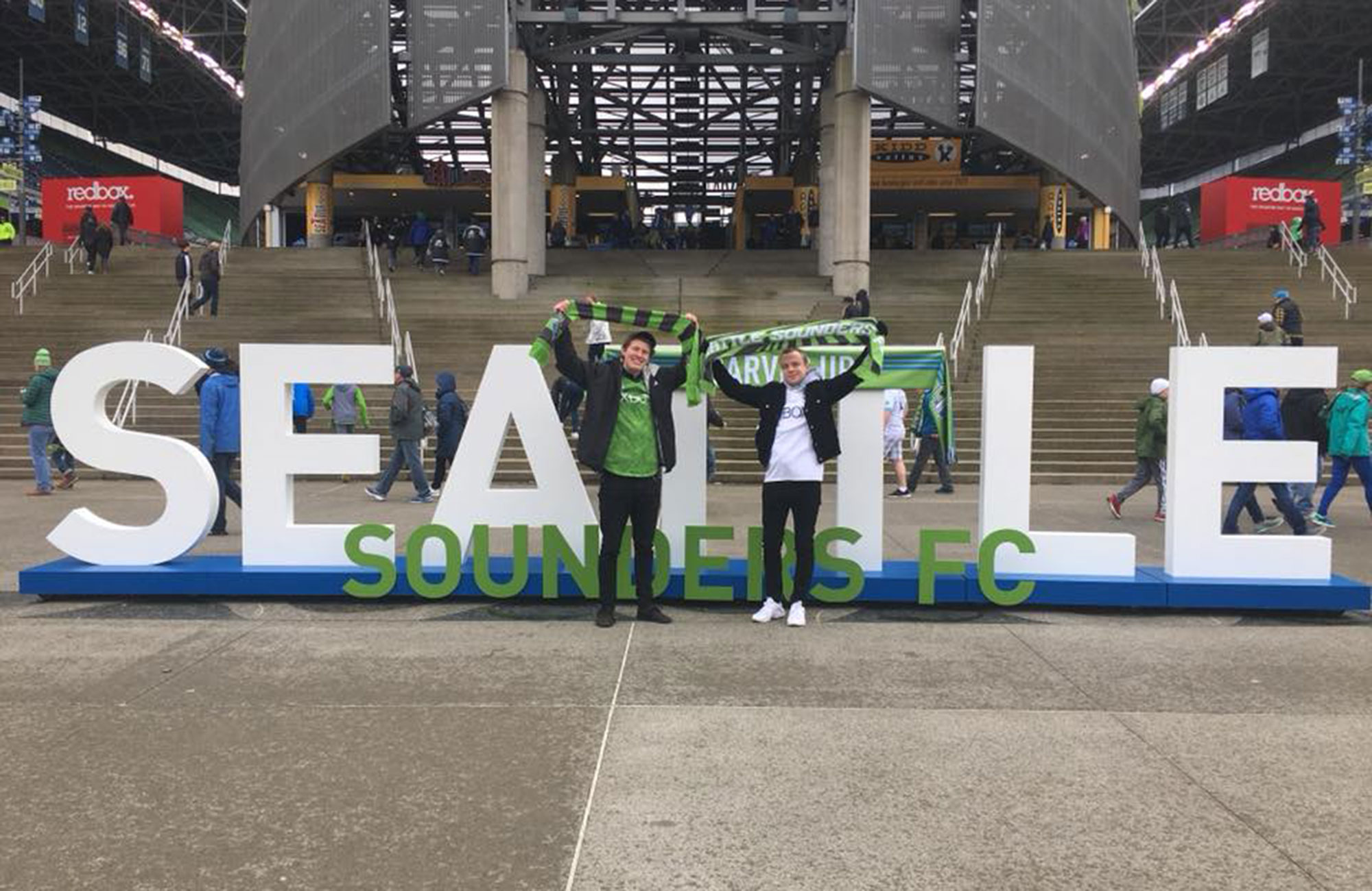 Stadium in Seattle attended by two college students from Green River College