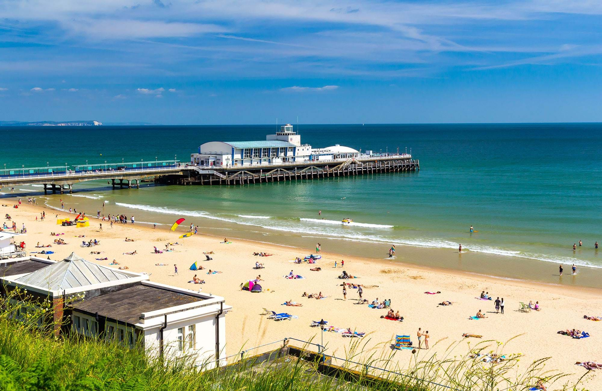 Bournemouth England Beach Sunny Day